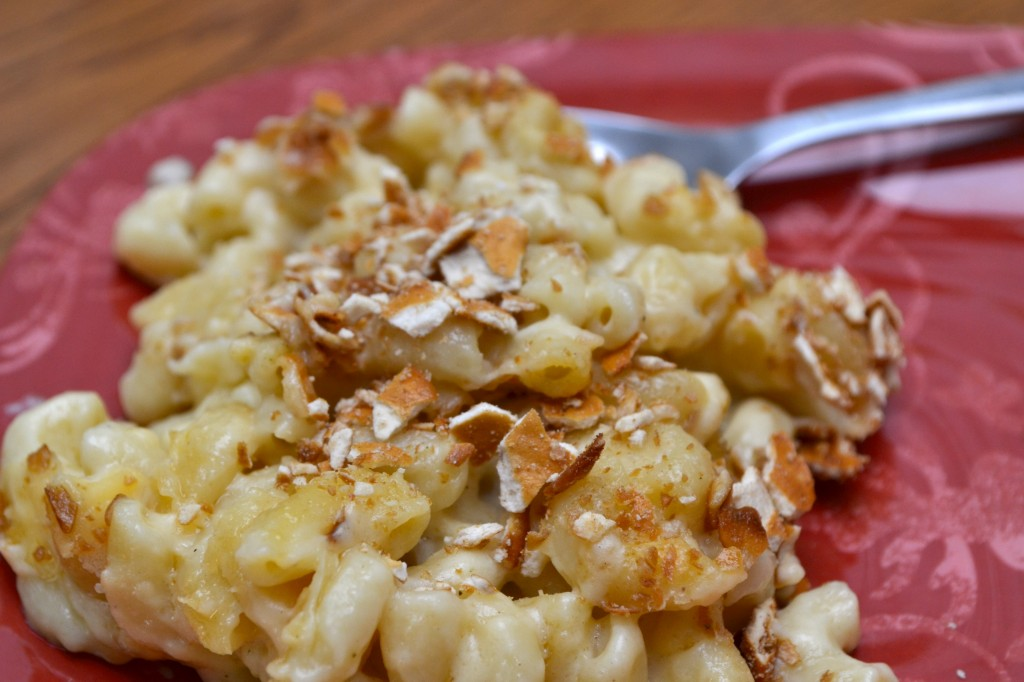 gouda mac and cheese, romano, parmesan, colby cheeder